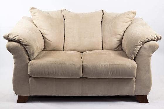 Cream Microfiber Sofa Set Of 2