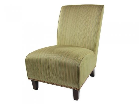 Nice Gold Striped Slipper Chair