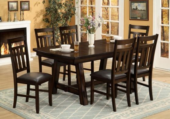 placid lodge dining table with 6 chairs
